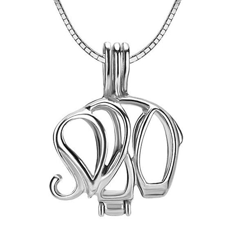 Elephant 925 Solid Sterling Silver Cage Pendant