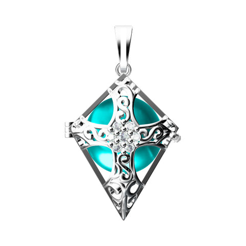 Cross 925 Solid Sterling Silver Cage Pendant