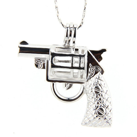 Revolver 925 Solid Sterling Silver Cage Pendant