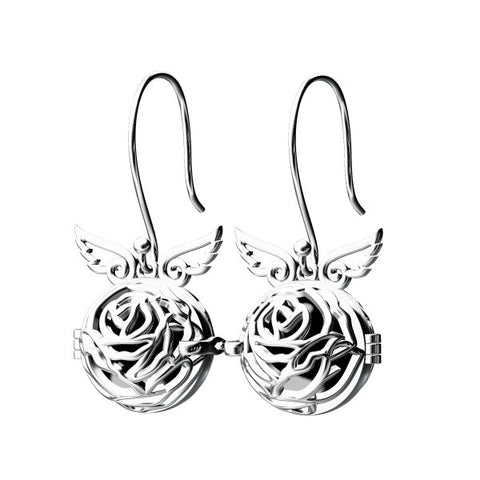 Rose 925 Sterling Silver Cage Style Earrings