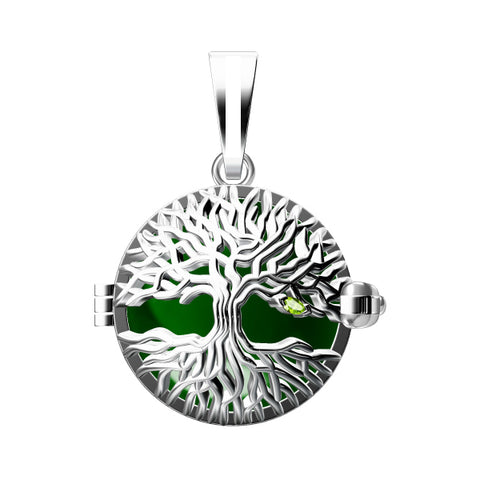 Tree Of Life 925 Solid Sterling Silver Cage Pendant