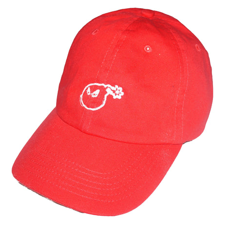 Bomb Supps Logo Dad Hat Red