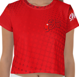 Red Apple Crop Tee