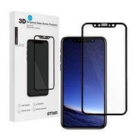 iPhone X Screen Protector Tempered Glass 3D Curved, Otium Full cover, 100% Touch Sensitivity, Case Friendly, Bubble Free, for iPhone X 2017