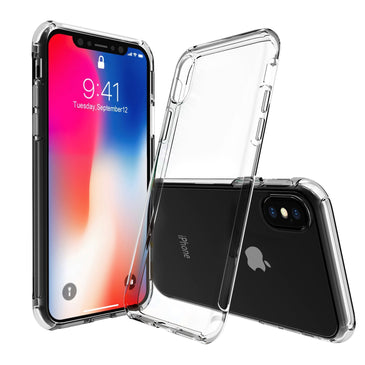 Otium iPhone X Case, Otium Apple iPhone X Crystal Clear Shock Absorption Technology Bumper Soft TPU Cover Case for iPhone X (2017)