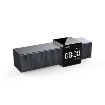 Otium Alarm Clock Radio with Wireless Bluetooth Stereo Speakers,Digital FM Radio,Dual Alarm with Snooze,Auto Dimmer,Cell Phone USB Charging