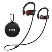 Bluetooth Headphones, Otium Wireless Headphones IPX7 Waterproof Earphones Sport Earbuds With Bluetooth 4.1 CSR Chip 7-9 Hrs Battery,Noise Cancelling Mic Earbuds for Gym Running Outdoor Sports Workout