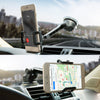 Car Phone Holder, Otium Car Mount, 360 Rotating Windshield Dashboard Universal Mobile Phone Cradle Long Adjustable Arm with One-button Release for iPhone Samsung Galaxy HTC LG Huawei and More