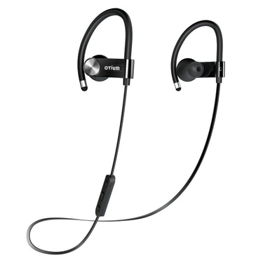 Otium Wireless Sport Bluetooth Headphones - Hd Beats Stereo Sound -  Upgrade Metal Version - Sweatproof Stable Fit In Ear Workout Earbuds - Noise Cancelling Earphones with Remote and Microphone