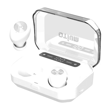 Otium Wireless Earbuds Bluetooth 5.0 Headphones with Upgraded LED Display Charging Case Stereo Sound Headset IPX7 Waterproof TWS Built-in Mic in-Ear Earphones with Deep Bass for Sports Running