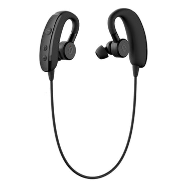 Otium Wireless Bluetooth Headphones - IPX4 Sweatproof - Adjustable Earbuds - Retractable TPU Earhook - Stereo Noise Cancelling Earphones with Microphone