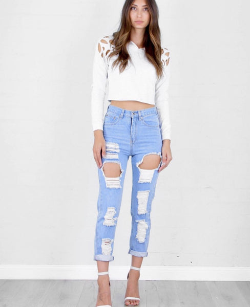 Fly Boyfriend Jeans by Rosebullett