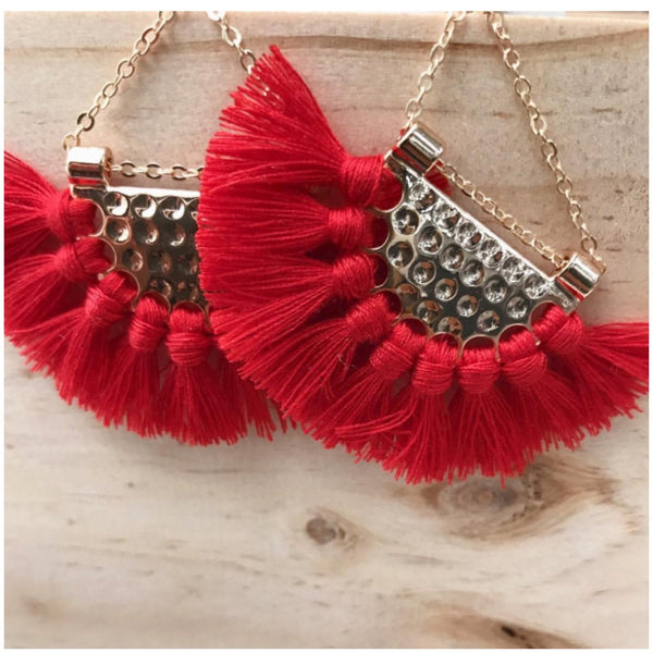 Droppie Tassel Earrings
