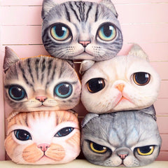 Kitty Cat Head Pillow - Novelty Home Store