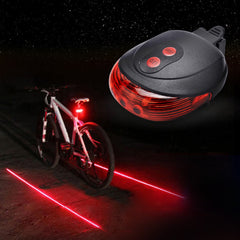 New Bicycle LED Rear Laser Safety Light