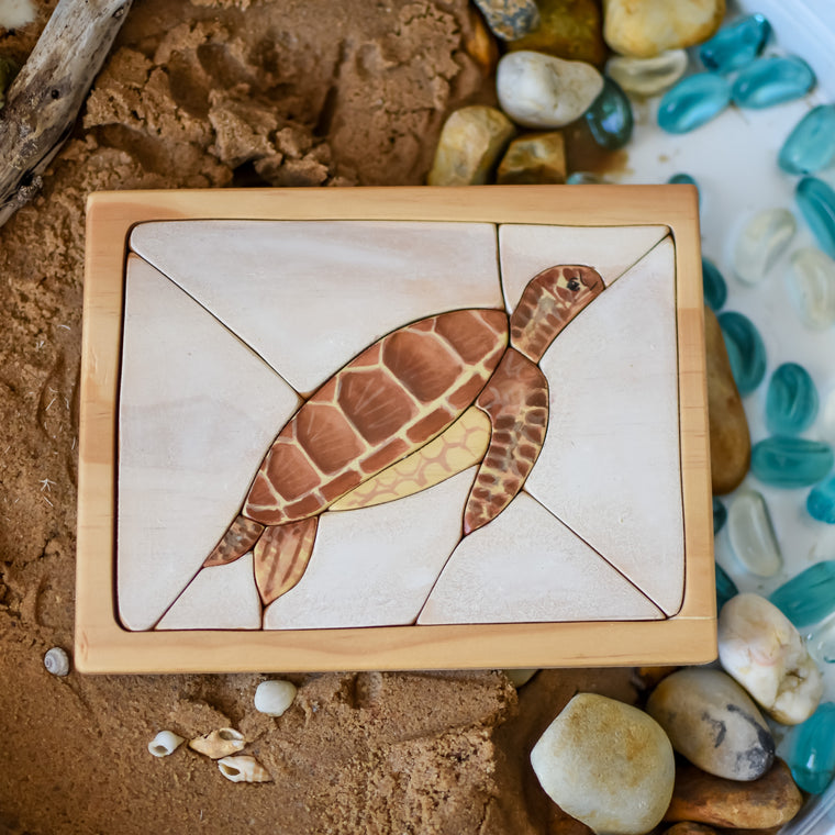 Sea Turtle Watercolour Wooden Jigsaw Puzzle