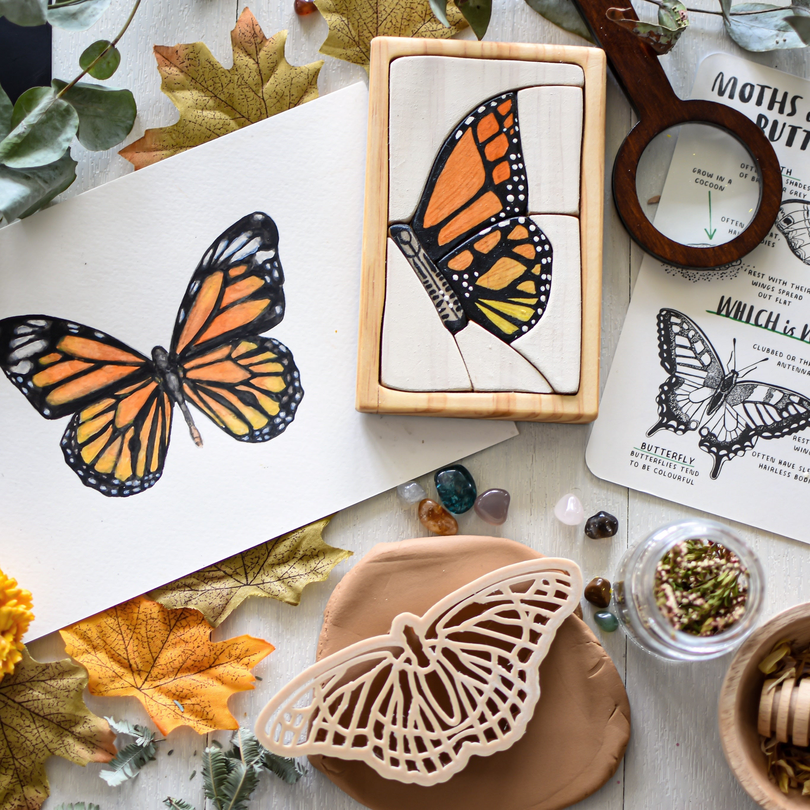 Butterfly Watercolour Wooden Jigsaw Puzzle