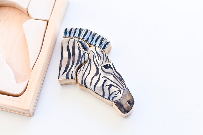 Zebra Watercolour Wooden Jigsaw Puzzle