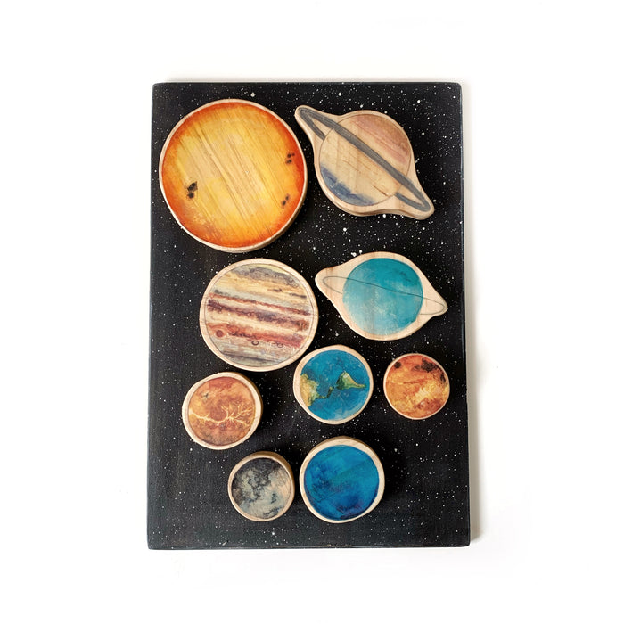 Solar System Wooden Block and Board Set