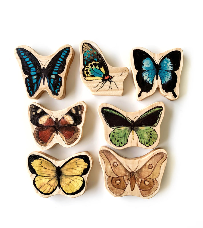 Australian Butterflies Wooden Block Set