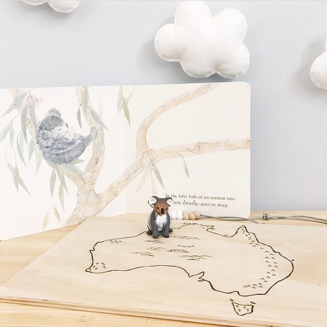 Australian Map Illustrated Wooden Playboard