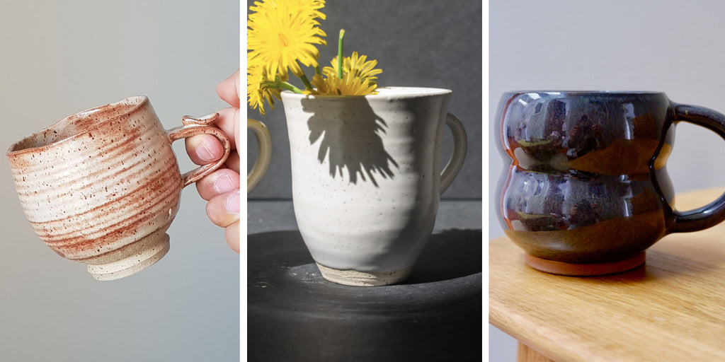 Ceramic and pottery coffee cups on Only Limited NZ