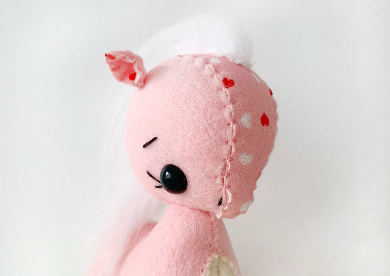 Pink and White Love Heart Pony