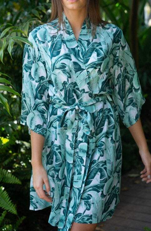 Maui Robe - Palm Leaf