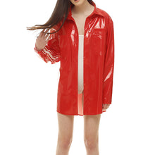 Red Patent-leather Jacket - krawaii.com