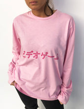 "Long Sleeve Pink Tshirt with ""Video Game"" Print - krawaii.com"