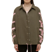 Army Green Cotton Canvas Jacket - krawaii.com