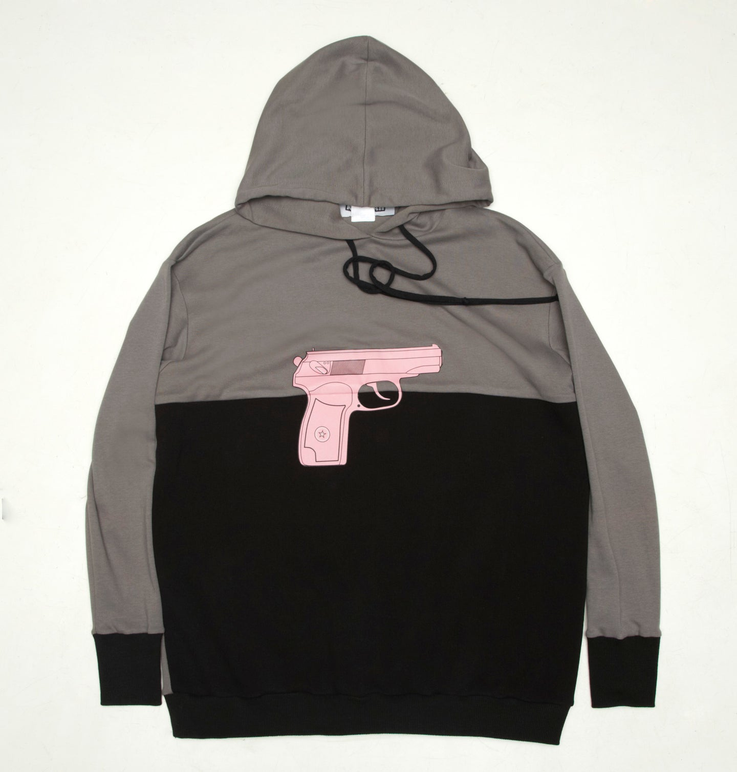 Boys Black/Gray Hoodie With Gun print - krawaii.com