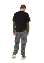 Mens Check Trousers Withe Side Pockets - krawaii.com