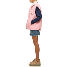 Pink Denim Vest - krawaii.com