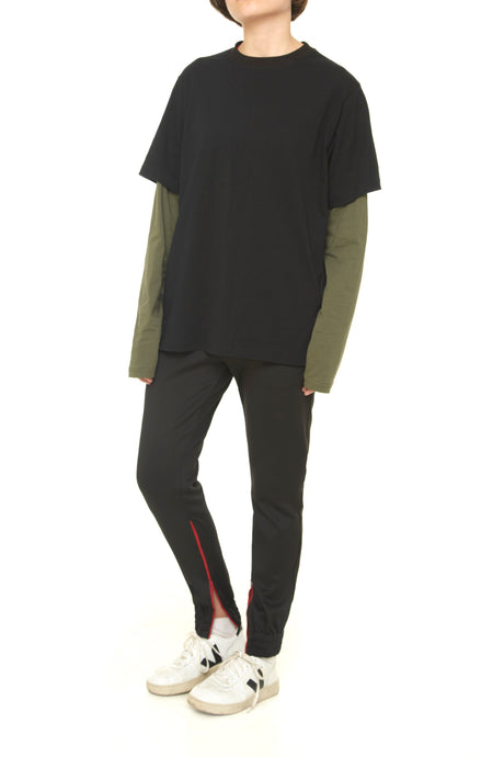 Black/Khaki Long Sleeve Tshirt - krawaii.com