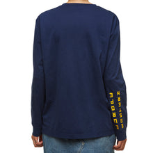 "Long Sleeve Blue Cotton T-shirt with ""Eastern Europe"" print - krawaii.com"