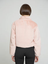 Pink faux fur jacket - krawaii.com