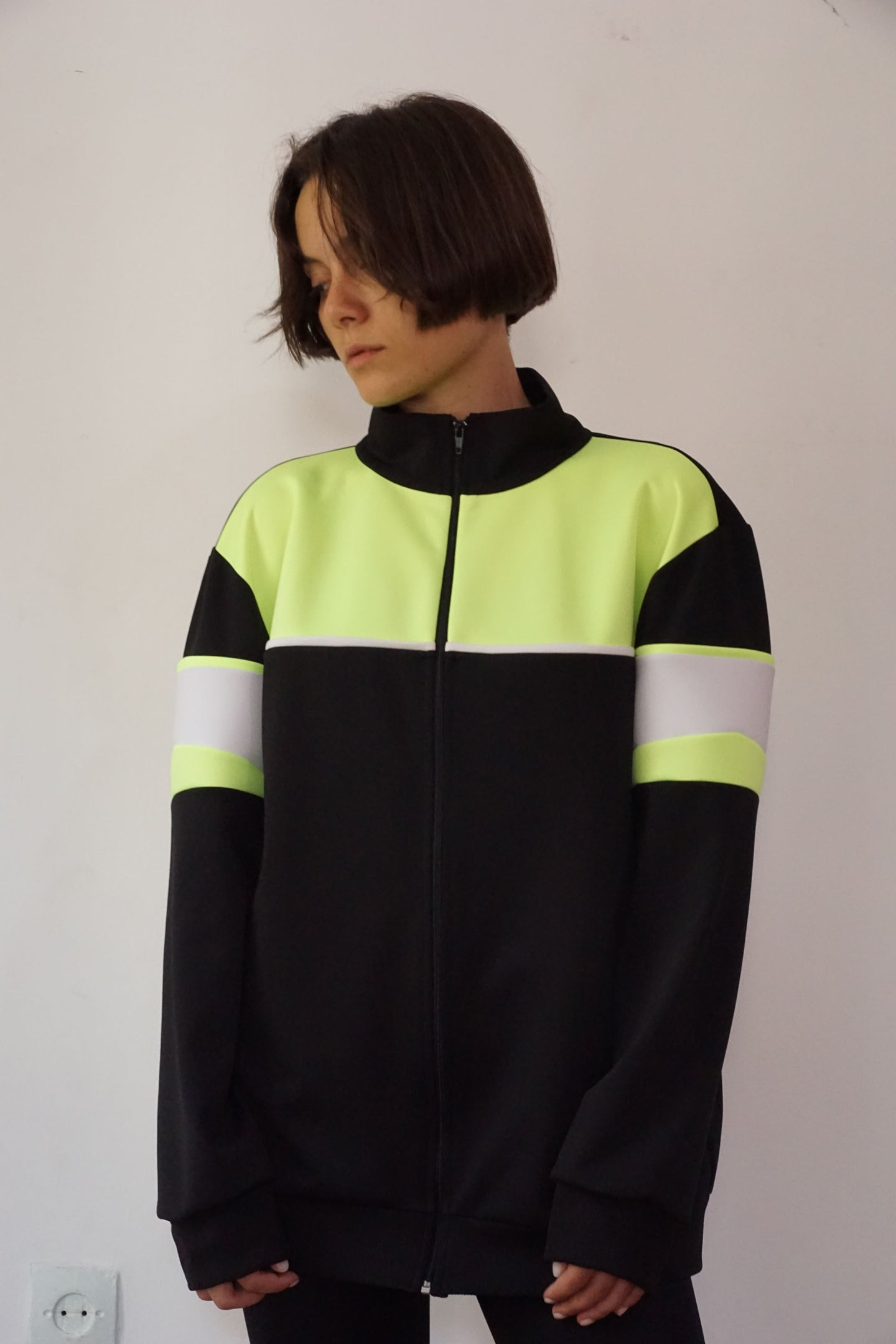 """Post Soviet Kid"" Neon Print Jacket - krawaii.com"