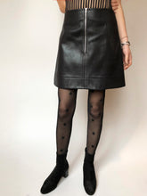 Zip Front Faux Leather Skirt - krawaii.com