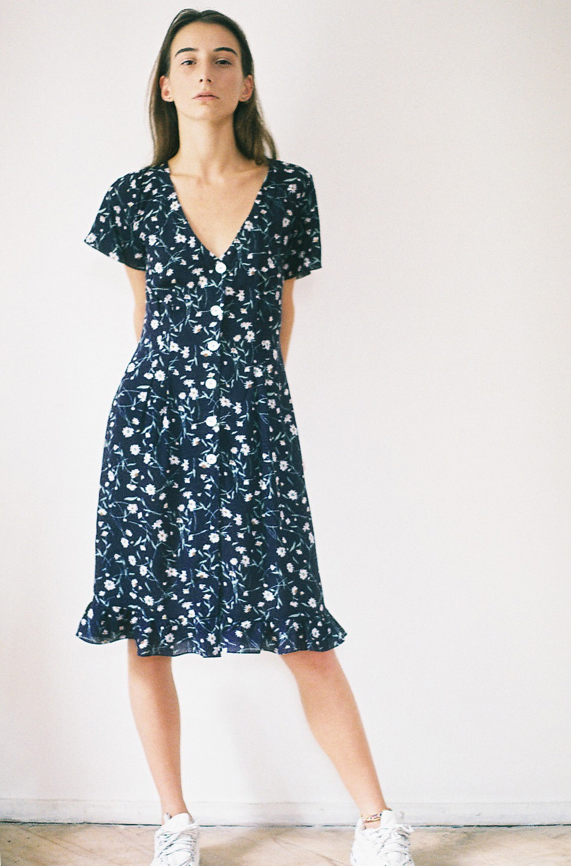 Blue Floral Dress - krawaii.com