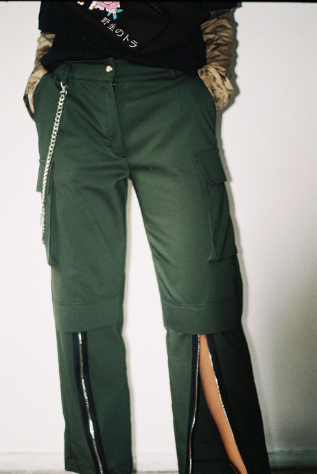 Camo Zip Pants - krawaii.com
