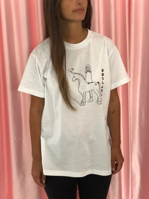 """Krawaii With Unicorn"" white Tshirt - krawaii.com"