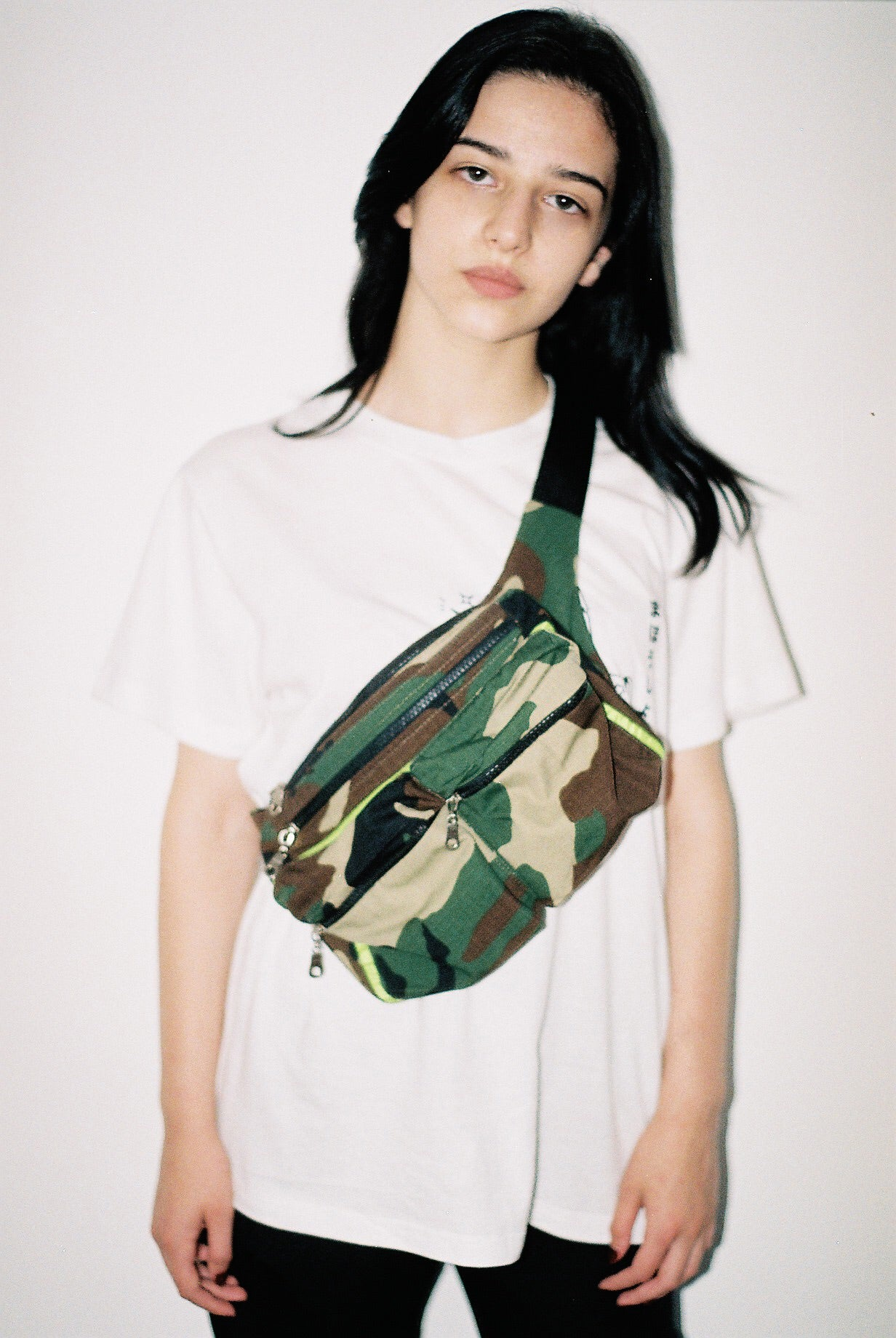 Camo Waist Bag With Green Details - krawaii.com