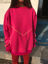 Pink Sweatshirt With Neon Lines - krawaii.com
