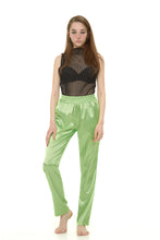 green silk trousers - krawaii.com
