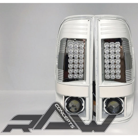 1999-2016 Color Matched F250 LED Tail Lights