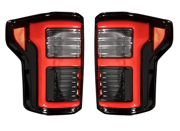 RECON Ford F150 15-17 & RAPTOR 17-18 (Replaces OEM LED Style Tail Lights w Blind Spot Warning System) OLED TAIL LIGHTS