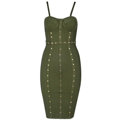 BASSO Chic Button Dress