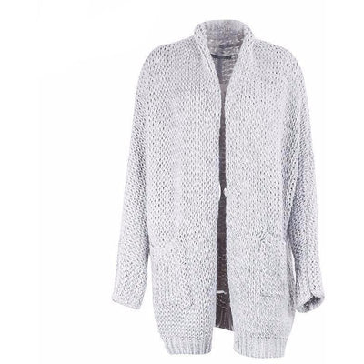 Woman's Fancy Sweater Comfy Grey Sweater at $59.00