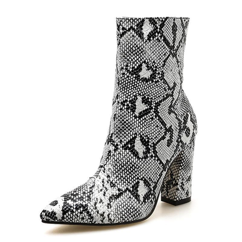 Woman's Ankle Boots Elly's Animal Print Boots at $59.00